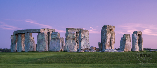 Stonehenge ruins at sunser
